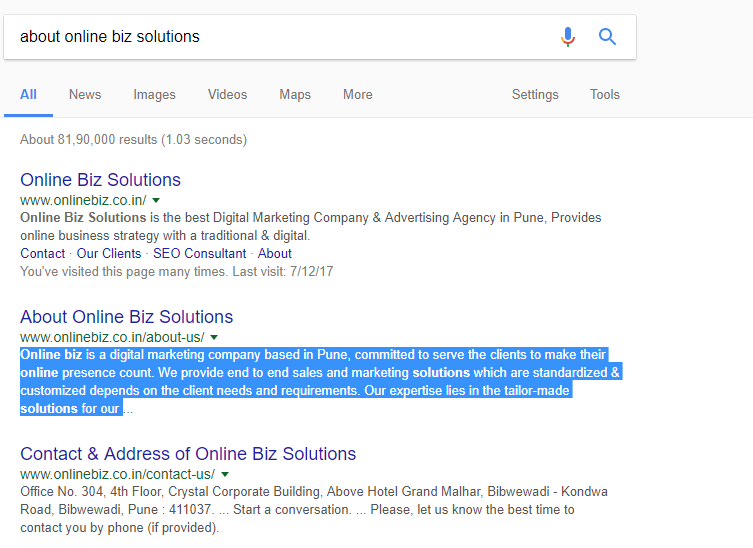 Google Extended Length of Description Snippets in Search Result